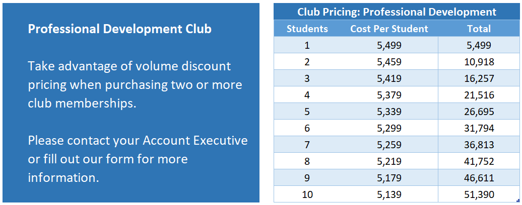 CLD Club Pricing with text