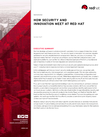 Red Hat Security White Paper Download